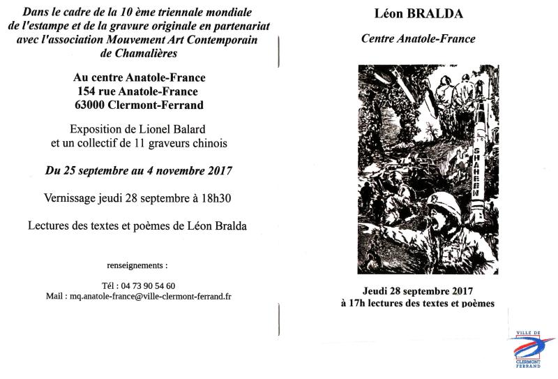 Lecture Léon BRALDA Triennale Chamalières